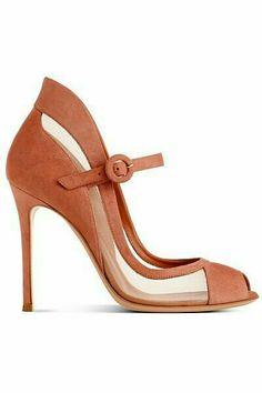 camel suede heel