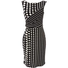 Black Spot Print Dress