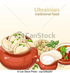 Vector - Ukrainian traditional food