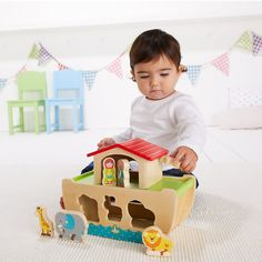 Wooden Noah's Ark : Wooden Noah's Ark : Early Learning Centre UK Toy Shop