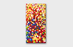 Abstract painting Dot art Mosaic wall art Modern by artbyasta