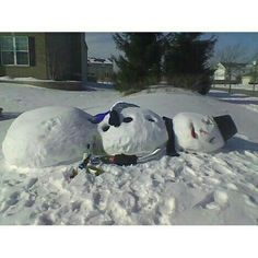 A photo gallery containing pictures of the funniest snow sculptures ever created. Brace yourselves, more funny snow sculptures are coming.