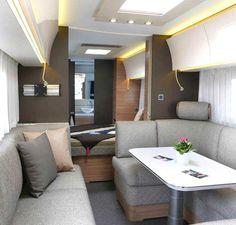 A camper van is like a small moving home. It provides both transport and sleeping accommodation to the passenger or […] Camper Interior Design, Rv Interior, Interior Lighting, Decorating Your Rv, Caravan Makeover, Moving Home, Camper Renovation, Remodeled Campers, Rv Campers
