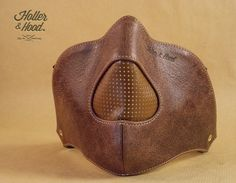 Motorcycle mask holler&hood Thunderbird hog nose/motorcycle leather mask/cafe racer mask/leather riding mask/Built for speed !! de la boutique HollerandHood sur Etsy