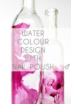 How to make - water colour design with nail polish on clear glass. A easy way to add some eye catchers to your home decor » [es.kaa.] makes