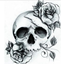 Beautiful Skull tattoo design by Shattered-Baby-Girl on DeviantArt