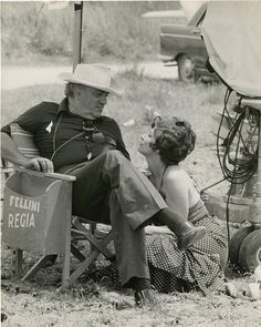 "lottereinigerforever: Federico Fellini & Magali Noël on the set of ""Amarcord"" RIP Magali Noëlle Guiffray giugno 1932 - 23 giugno Fellini Films, Pier Paolo Pasolini, Cartoon Tv Shows, People Of Interest, Chef D Oeuvre, Great Films, Michelangelo Antonioni, Film Director, Old Movies"