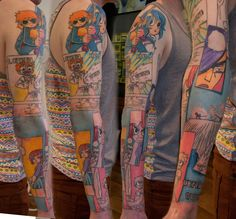 Incredible Scott Pilgrim Tattoo Sleeve by Tom Caine of Holy MountainTattoos