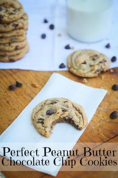 The Freckled Fox : Perfect Peanut Butter Chocolate Chip Cookies