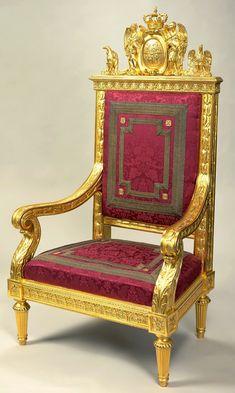 throne chair of stanislaus augustus by jan christian kamsetzer zamek krlewski w warszawie