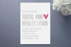 #minted invites (I like the look of this...simple and cute)