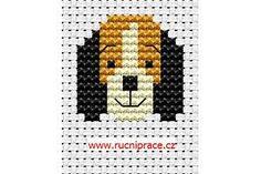 Dog Head Cross Stitch Free Pattern Flowers  252x322