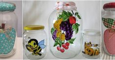 See related links to what you are looking for. Felt Crafts Diy, Painted Rocks, Decoupage, Mason Jars, Perfume, Glass, Painting, Home Decor, Banana