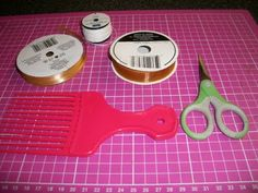 Fantabulous Cricut Challenge Blog: Quick Tip Tuesday: Hair comb bows (fork bows)