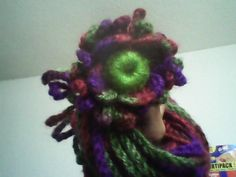 bufanda flower crochet