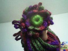 bufanda flower crochet