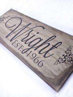 Custom Last Name Sign by LittleMoreLoveSignCo on Etsy, $20.00