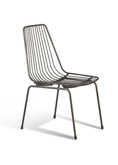 The Russell Side Chair is steel and usable outdoors.