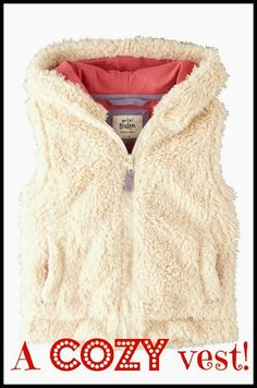 The perfect cozy vest for little girls!