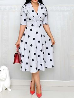 Womens Print Notched Lapel Half Sleeve Summer Women's Maxi Dress Latest African Fashion Dresses, African Print Fashion, Latest Fashion, Cute Dresses, Casual Dresses, Skater Dresses, Dresses Dresses, Cheap Dresses, Casual Outfits