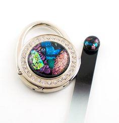 Multi Color Purse Hook Rhinestone Design Handbag by Nostalgianmore