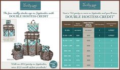 September 2013 Double Hostess Rewards Chart, Look what you get for hosting a party www.mythirtyone.com/31-by-Karla