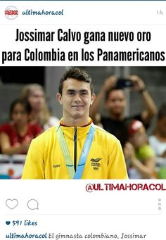July 15th, 2015 Jossimar Calvo, gymnast has won medals