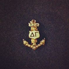 My badge. <3 Nautical Style, Nautical Fashion, Delta Gamma, Anchors, Badges, Pearl, Life, Instagram, Jewelry