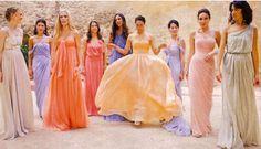 The prettiest bridesmaid dresses ever... At Lauren Santo Domingo's wedding. #voguemagazine #laurensantodomingo #wedding #bridesmaid #dresses