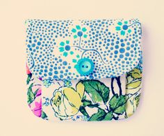 Little Pleated Pouch Amy Butler Organic Cotton by andreacreates