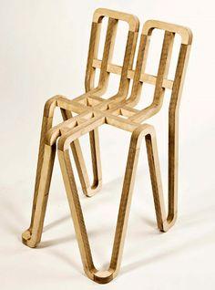 La chaise Hiatus créée par le designer jo hass korneliussen