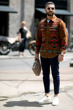 See all the best street style looks from outside Milan Mens Fashion Week Spring 2017.