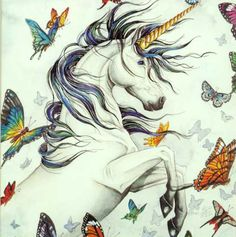 Bad day? Here, look at a unicorn with butterflies!