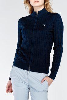 Svetr STRETCH COTTON CABLE ZIP CARDIGAN - Givo.cz Cable, Pullover, Zip, Sweaters, Cotton, Fashion, Cabo, Moda, Fashion Styles
