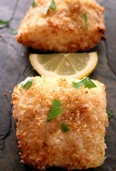 Panko Crusted Baked Cod Fish gives the fish a nice crunch while keeping the fish moist and flaky. Panko Crusted Baked Cod Fish gives the fish a nice crunch while keeping the fish moist and flaky. Air Fryer Fish Recipes, Fried Fish Recipes, Seafood Recipes, Cod Recipes Oven, Cooking Recipes, Baked Cod Recipes Healthy, Easy Baked Fish Recipes, Baked Tilapia Recipes, Recipes Dinner