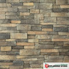 Stone Veneer: Our Orchard color is our Buff color with more dark brown and charcoal gray stones. | Appleridge Stone