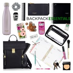 """Backpack Essentials"" by emmy ❤ liked on Polyvore featuring interior, interiors, interior design, home, home decor, interior decorating, 3.1 Phillip Lim, ban.do, Casetify and Yves Saint Laurent"