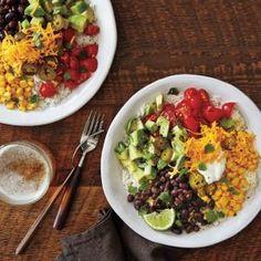 Vegetarian Burrito BowlsRecipe