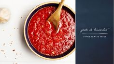 Giada De Laurentiis' Simple Tomato Sauce: A classic tomato sauce recipe to form the foundation of meat sauces, seafood sauces...the possibilities are endless. via @domainehome