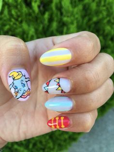 Disney Dumbo Nail Art