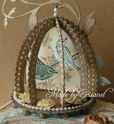 Vintage box and bird cage tutorial - Kianel