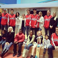 Photo by washingtoncaps - Washington Capitals‏@washcaps    Some of the Caps players spent the day off today with their better halves at Children's National Medical Center…