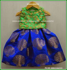 designs by Angalakruthi boutique Bangalore Kids Dress Wear, Kids Gown, Baby Frocks Designs, Kids Frocks Design, Kids Ethnic Wear, Kids Indian Wear, Baby Girl Party Dresses, Little Girl Dresses, Kids Blouse Designs