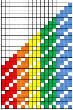 In this blog post, Annie MacHale shares two charts for pickup patterns based on some of her colorful strap designs.