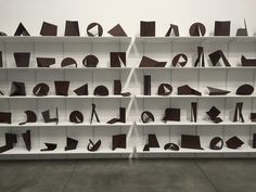 "Amilcar de Castro, ""Untitled"" (circa 1990), 140 sculptures of Corten steel Abstract Sculpture, Wood Sculpture, Bronze Sculpture, Metal Sculptures, Richard Serra, Installation Art, Art Installations, Contemporary Sculpture, Aluminum Metal"