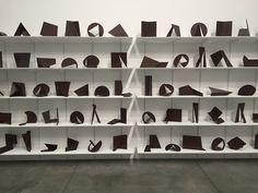 """Amilcar de Castro, """"Untitled"""" (circa 1990), 140 sculptures of Corten steel"""