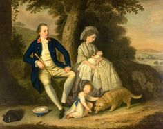 Charles Watson, Esq. (1740–1804), and His Wife, Lady Mary (d.1793), with Their Two Children, James (1781–1823) and Anne (1782–1800), in a Landscape by David Allan, 1782