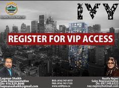 Hurry and register now for VIP access because you don't want to miss out on this opportunity  IVY CONDOS LOCATED AT 71 MUTUAL STREET TORONTO ★Priced from Low $300's ★32 Storey ★235 Mixed condo units ★Completion: Tentative Summer 2020 ★Walk score: 99/100 ★Location: Church-Yonge Corridor neighborhood in Toronto Key Facts: ·Walk score: 99/100 ·Location: Church-Yonge Corridor neighborhood in Toronto ·2 Min. walk to Dundas St. East at Church St. Shop ·7 Min. walk to Dundas subway station ·5 Min…