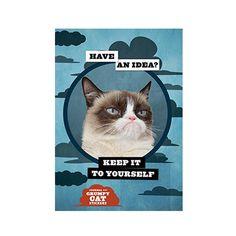 Grumpy Cat journal met stickers. We love the grumpy cat. Notebook, notitieboek, kat, cute