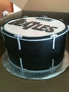 The Beatles drum cake